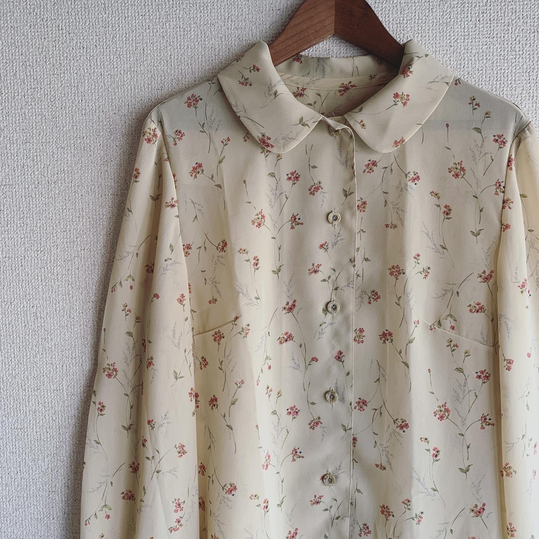 【SALE】vintage design sheer tops