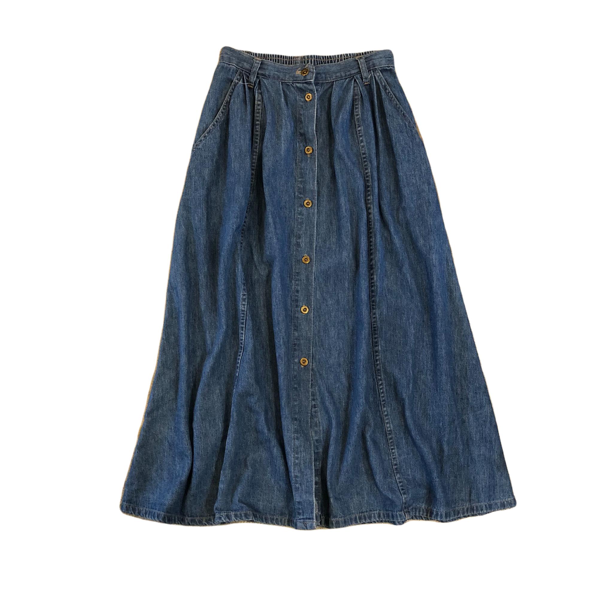 Stampede Denim Long Skirt ¥5,400+tax