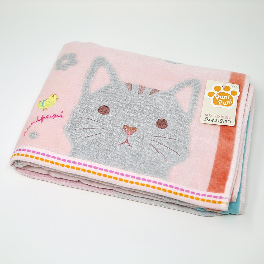 猫バスタオル(やわらか無撚糸もちぷに)