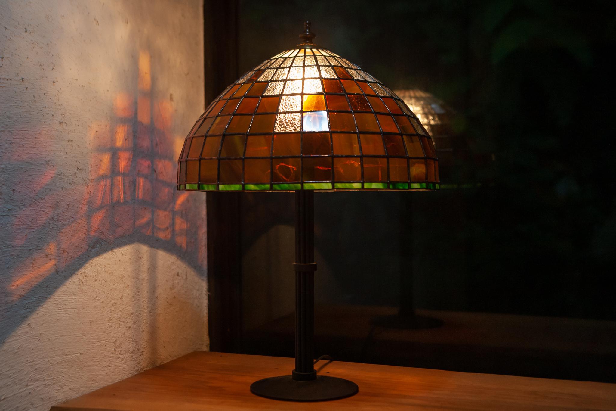 刻の記憶(黄昏れ)(ステンドグラスのテーブルランプ) 01020216
