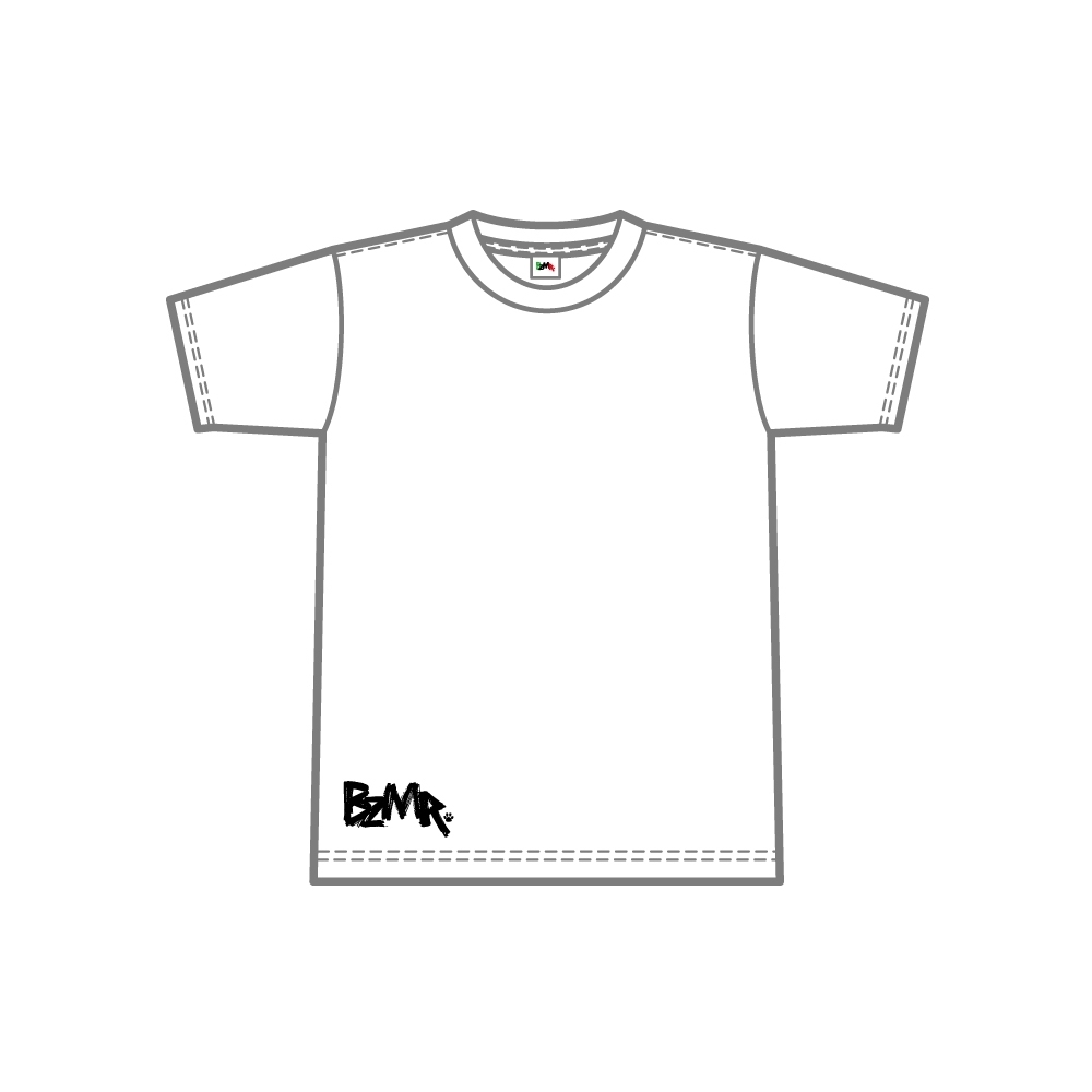 BZMR [Bottom print mono tee] White. - 画像1