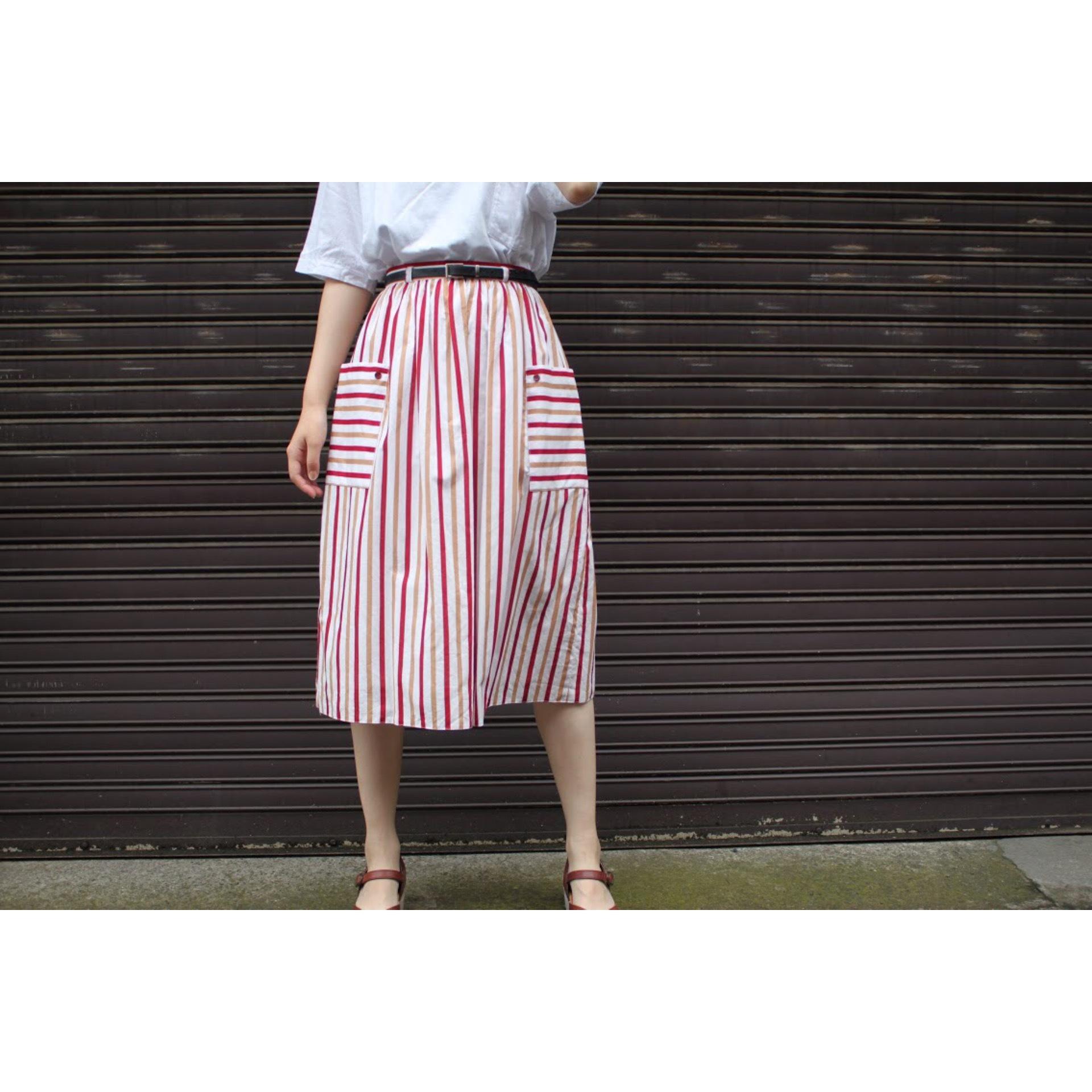 Vintage cotton stripe skirt