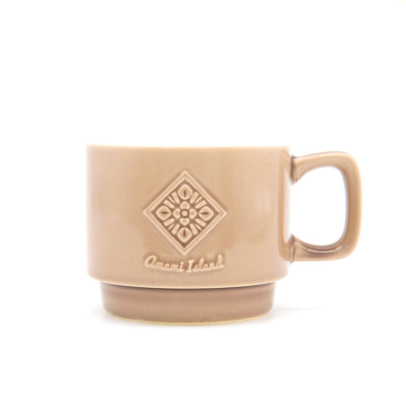 オリジナルマグカップ   ブラウン   紬柄