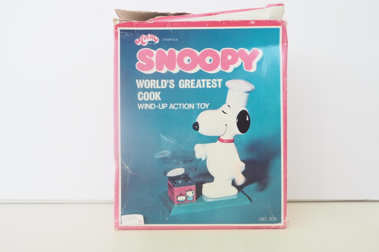 品番1434 1965's ヴィンテージスヌーピー コック衣装 『Aviva COOK SNOOPY』 ※箱付・ゼンマイ式