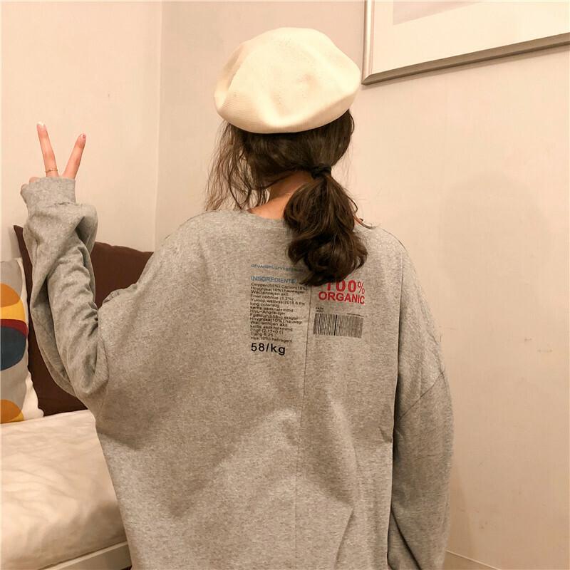 【即納】【送料無料】 アメコミ風 ♡ カジュアル オーバーサイズ プリント Tシャツ ロンT カットソー