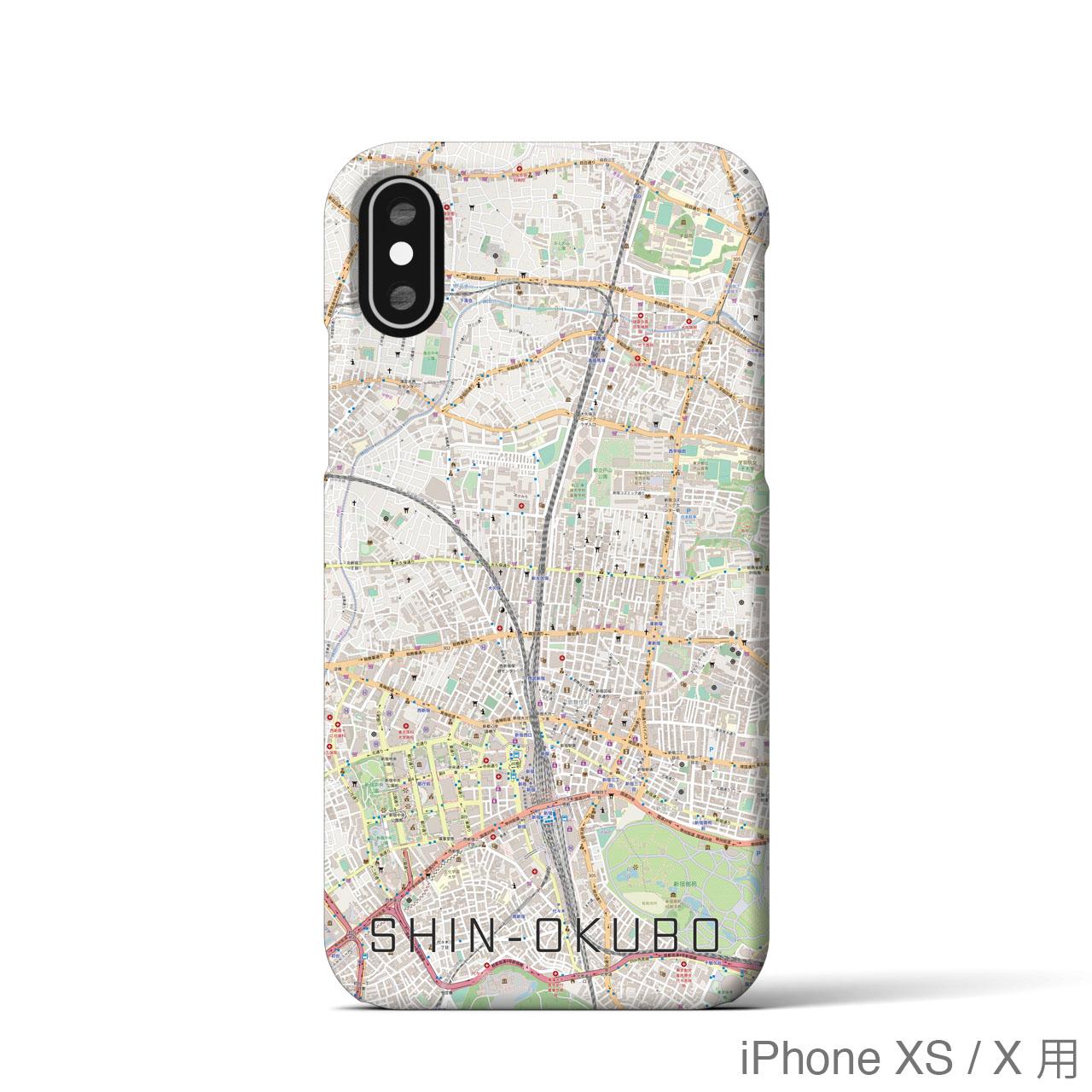 【新大久保】地図柄iPhoneケース(ナチュラル)