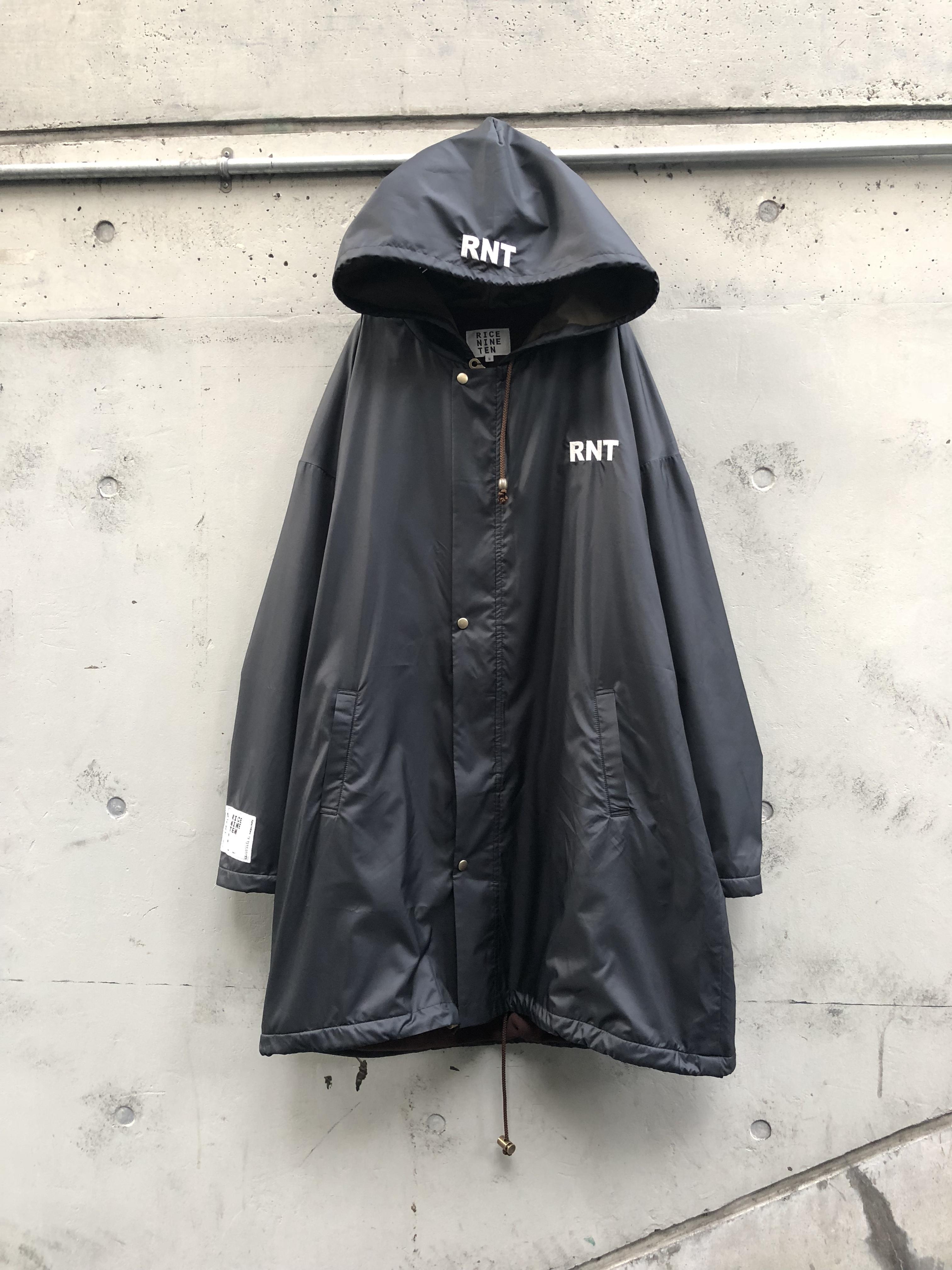 【RICE NINE TEN】RNT OVER COAT black