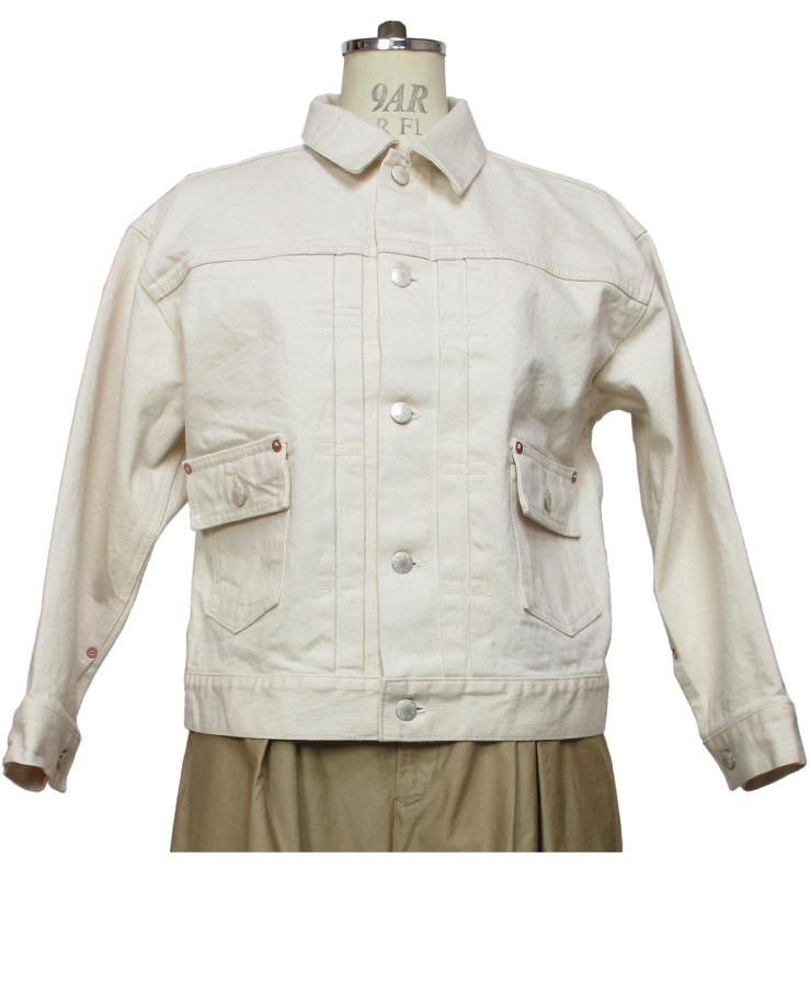 modern jacket type2nd. ecru Lot:00702 - 画像2