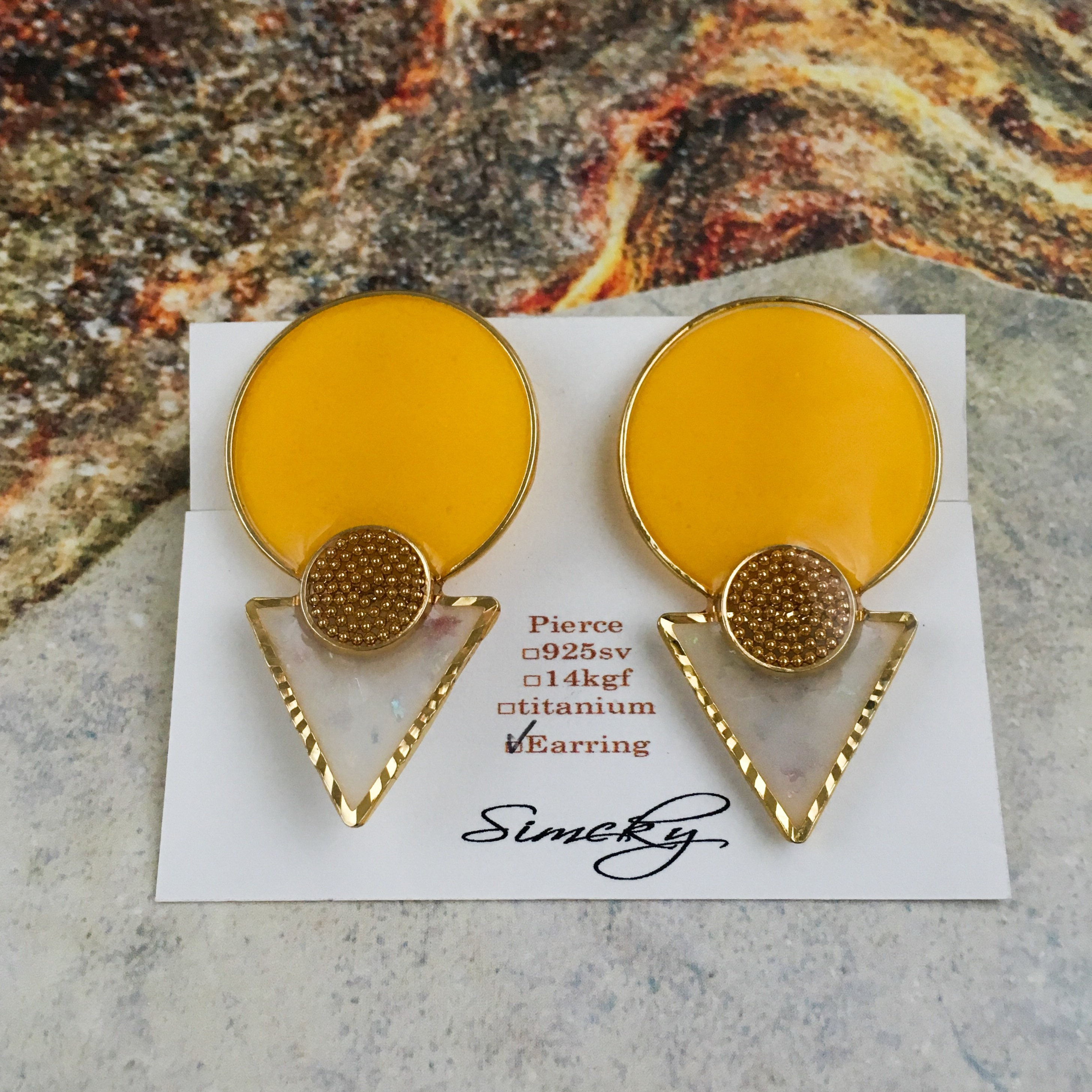 E-3 pierce14KGF/earring(yellow)