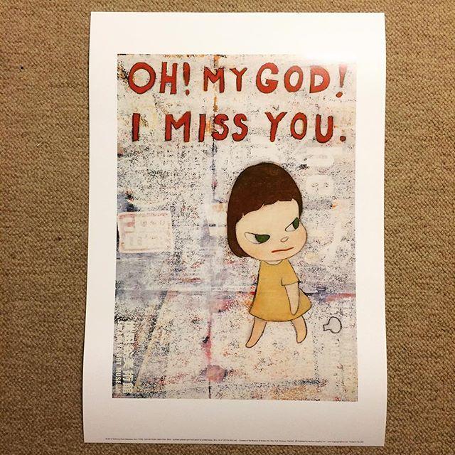 ポスター「奈良美智 OH! MY GOD! I MISS YOU.(33×48)」 - 画像1