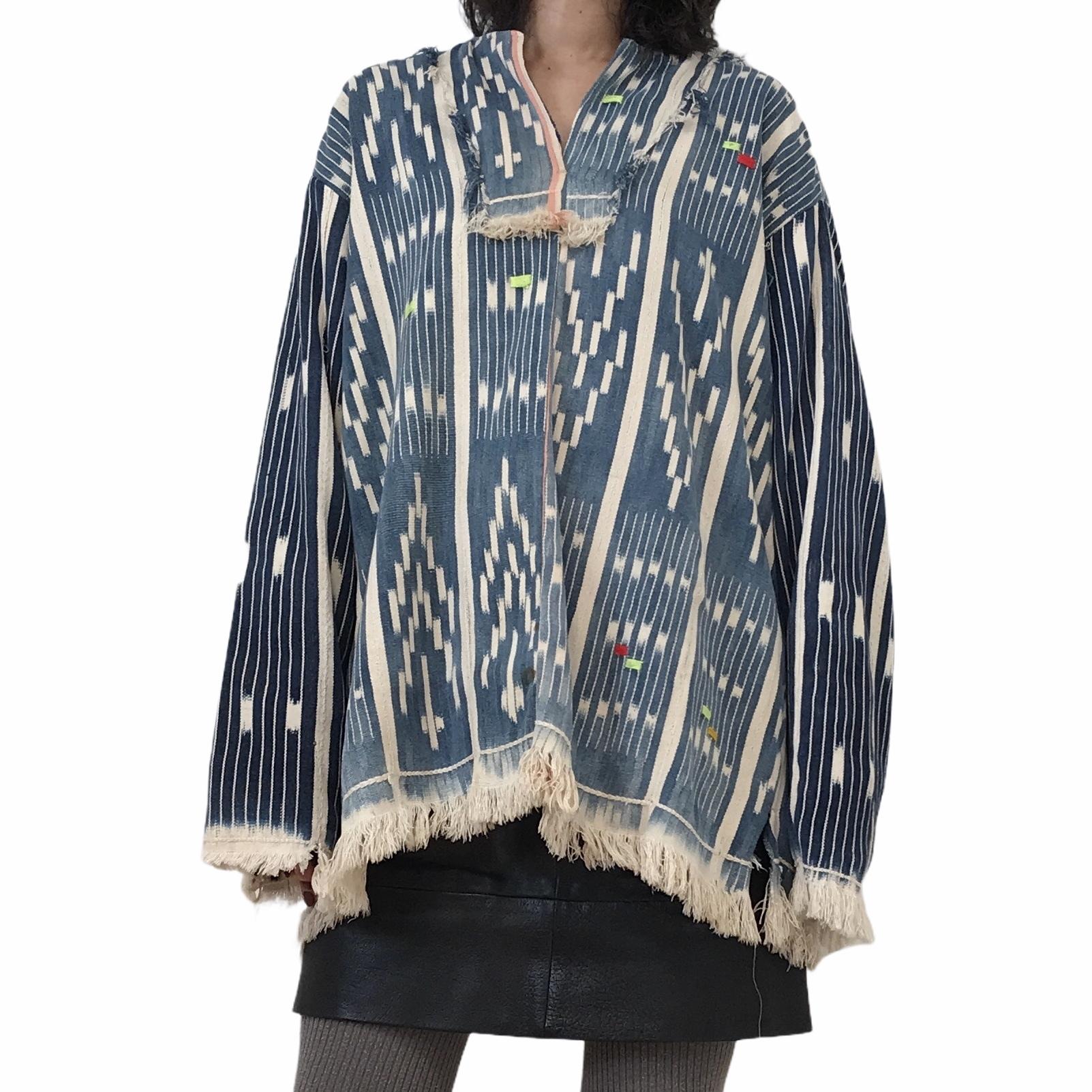 LIOT Vintage Indigo African Fabric Tunic