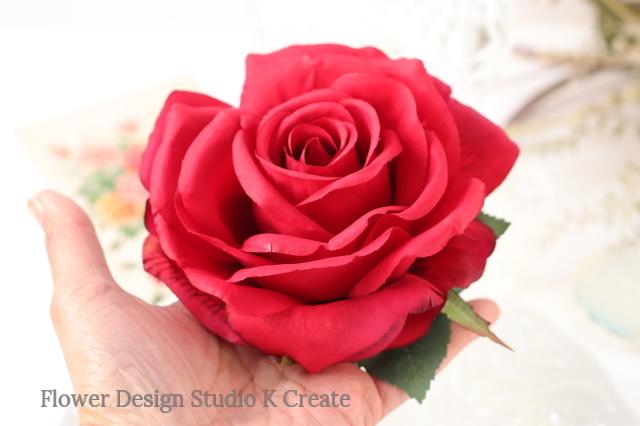 フラメンコ・フローレス・発表会に♡大輪の赤い薔薇のヘッドドレス
