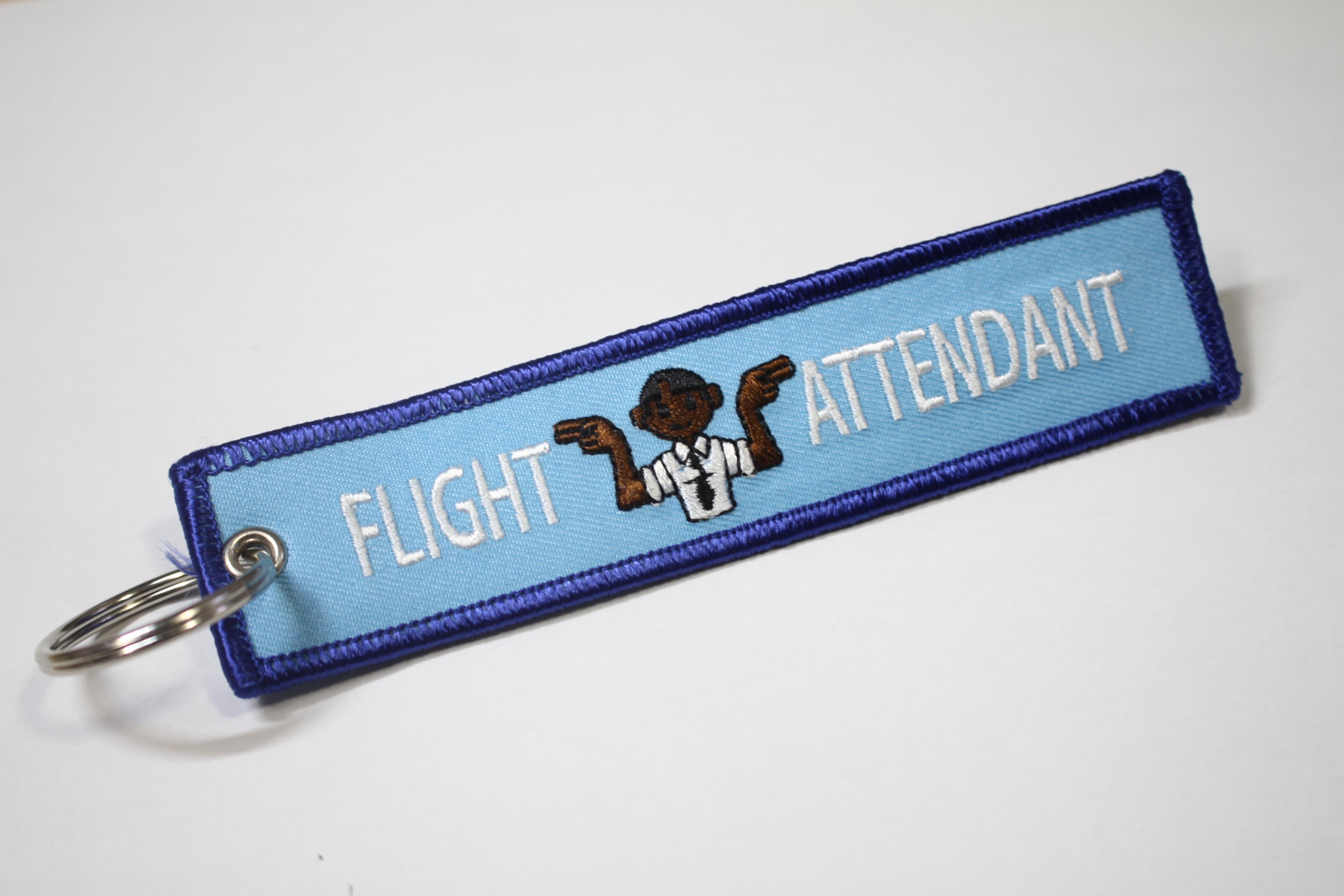 REMOVE BEFORE FLIGHTキーホルダー FLIGHT ATTENDANT