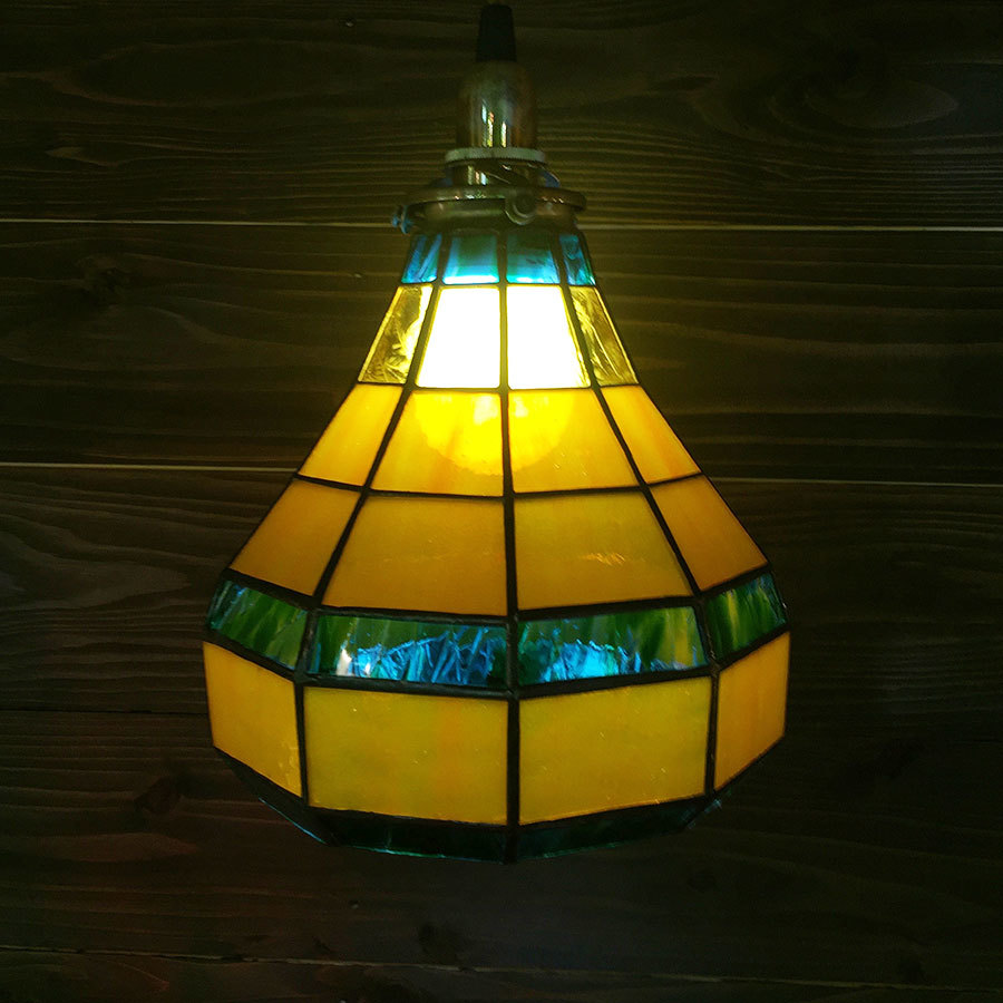 ひょうたん(ステンドグラスの吊りランプ)(ペンダントライト) 01010034