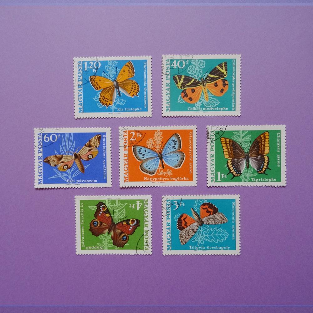 チェコ 蝶の切手セット
