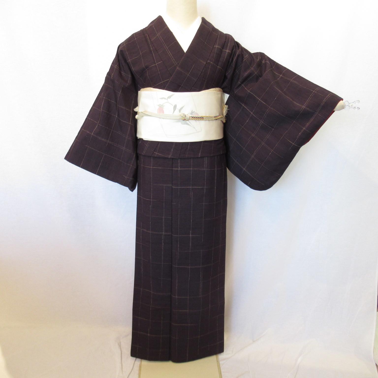 1380濃紺紬小紋