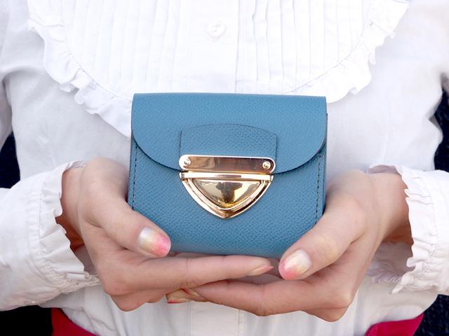 身軽にキメたい時のコンパクト財布|P式パーティーレザー・ターコイズ