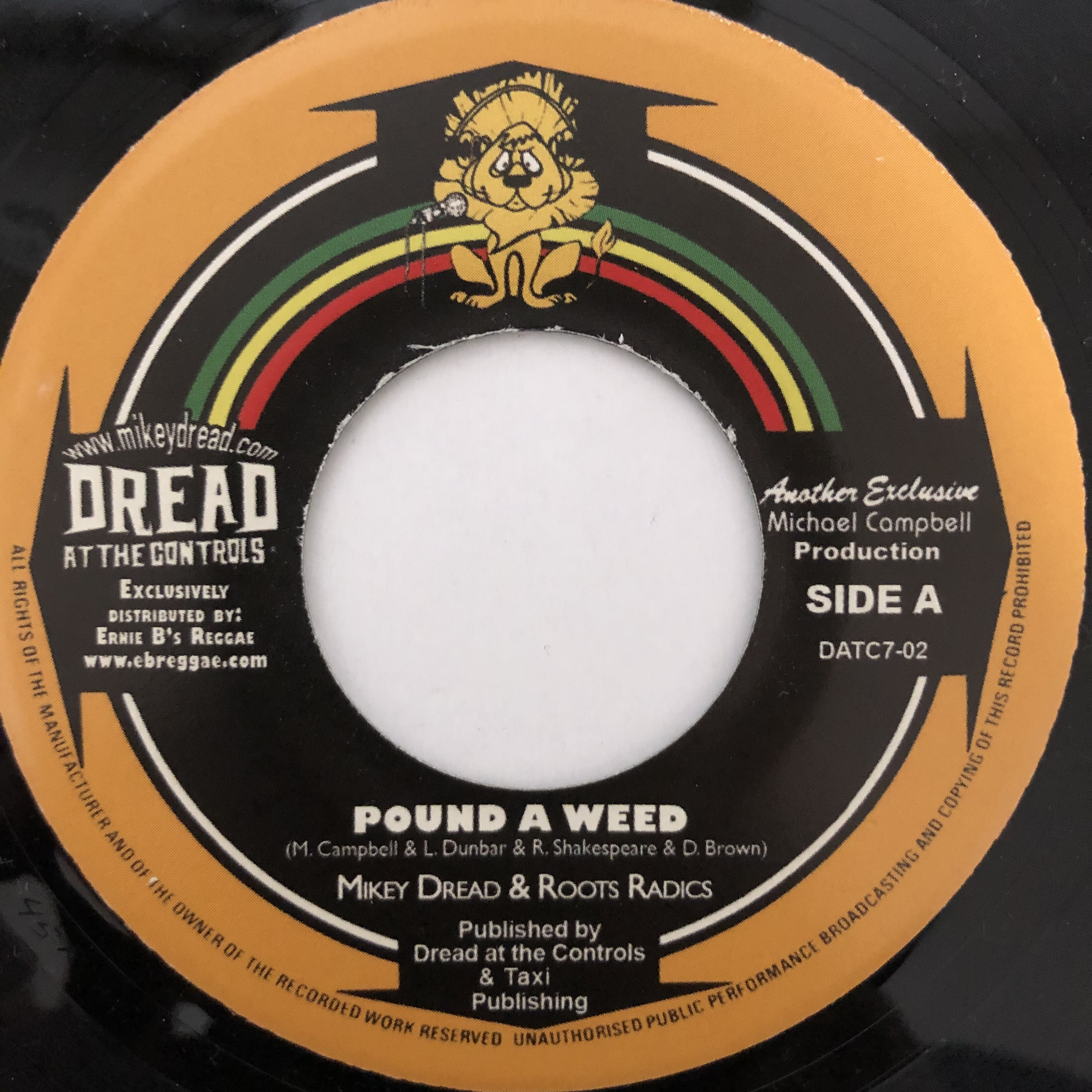 Mikey Dread & The Roots Radics - Pound A Weed【7-20473】