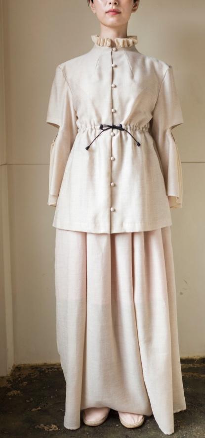 【 AKIRAFURUKAWA 】アキラフルカワ long skirt beige