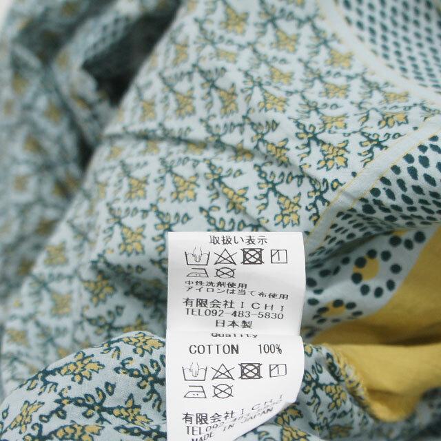 ichi イチ バンダナ柄ワンピース レディース ワンピース ロング 7分袖 ゆったり 通販 (品番190106)