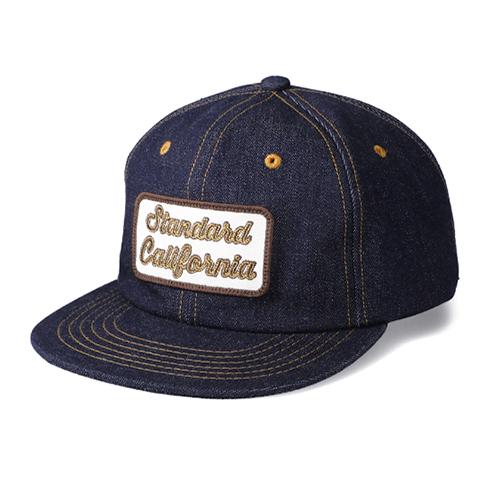 STANDARD CALIFORNIA #SD Logo Patch Denim Cap Blue