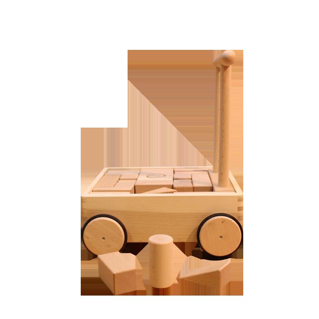 押車積木(無地) - 画像1