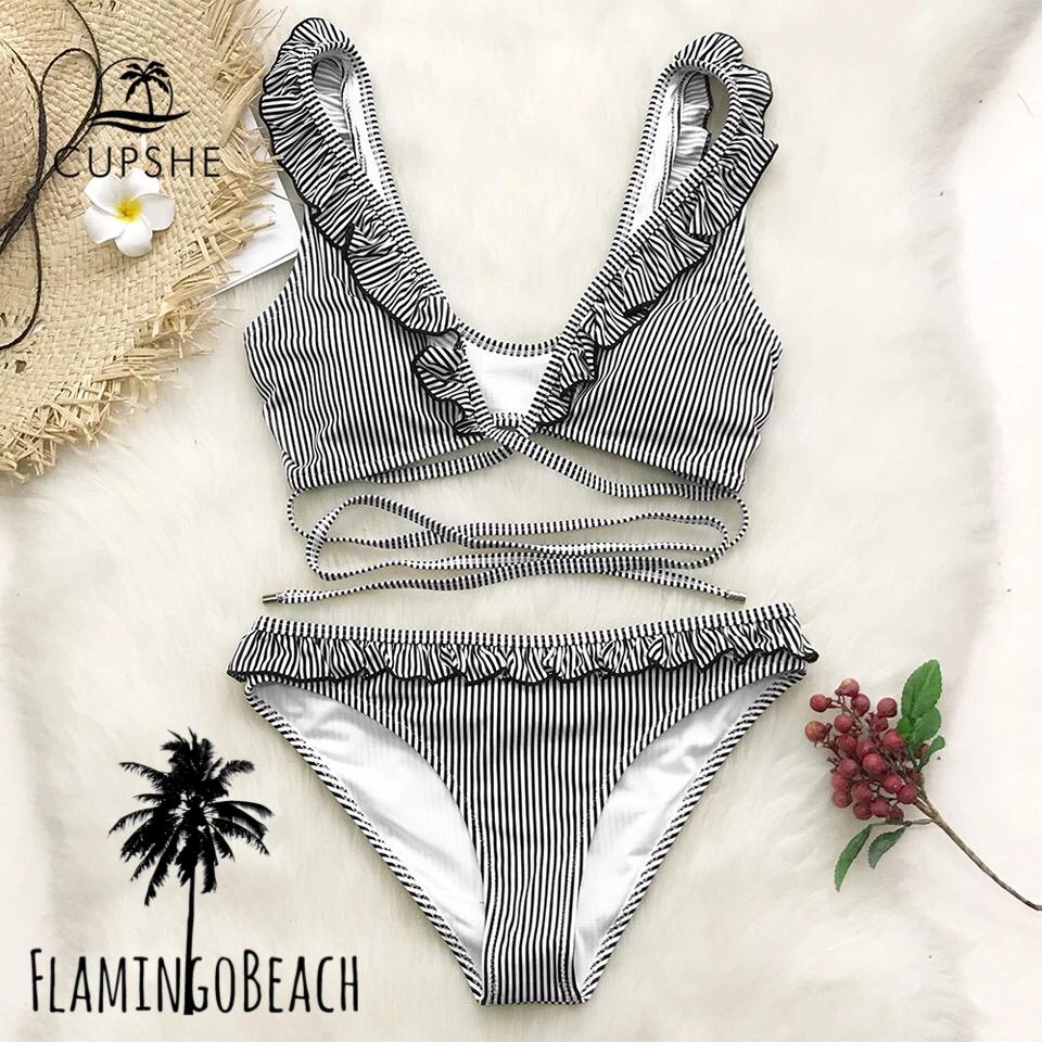 【FlamingoBeach】furil stripe bikini ビキニ