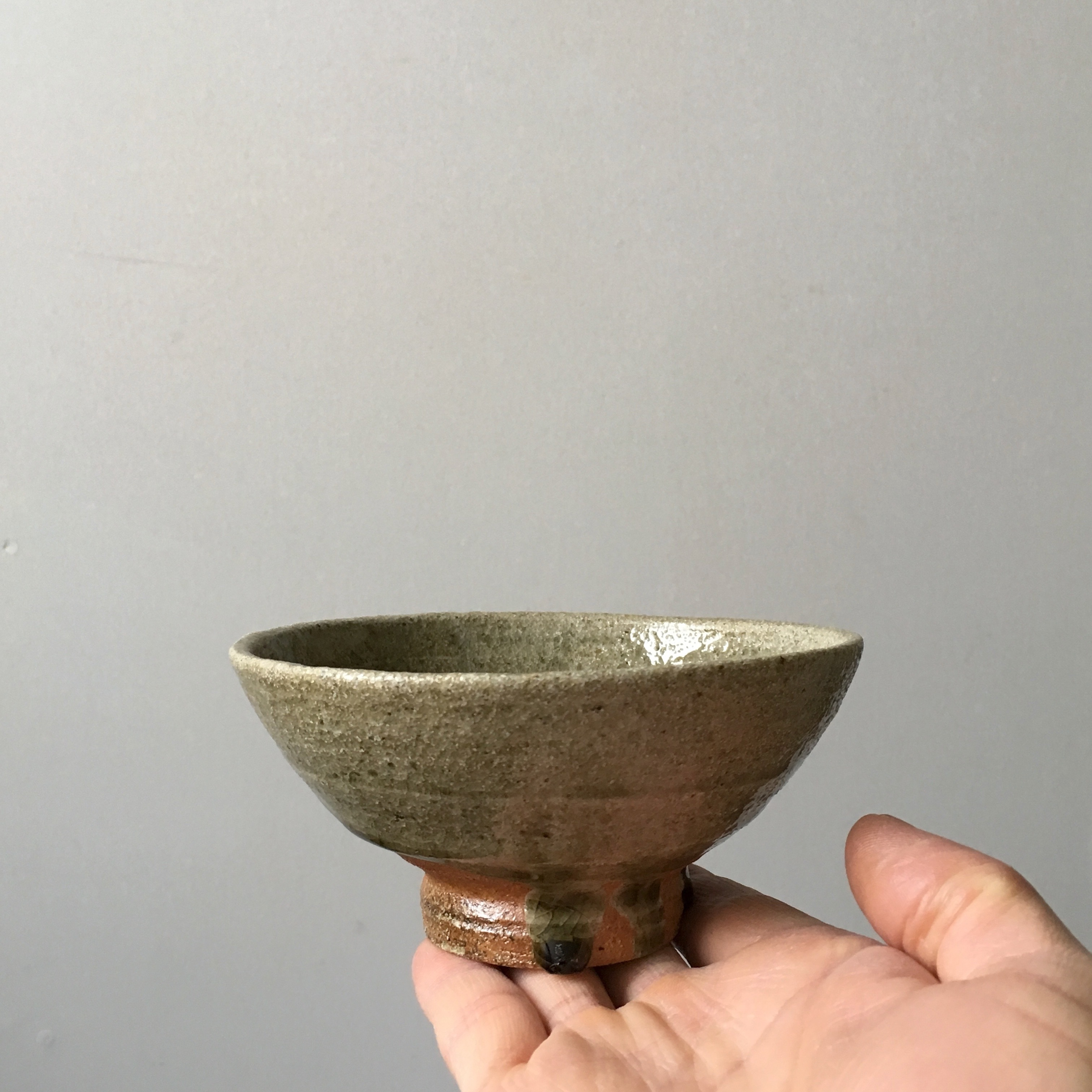 灰釉掛飯碗 小  /  kanya yamamoto
