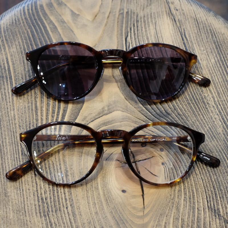1sin(イッシン) CIRCLE別注innovator べっこう柄ブラウン ラウンドボストン眼鏡・サングラス