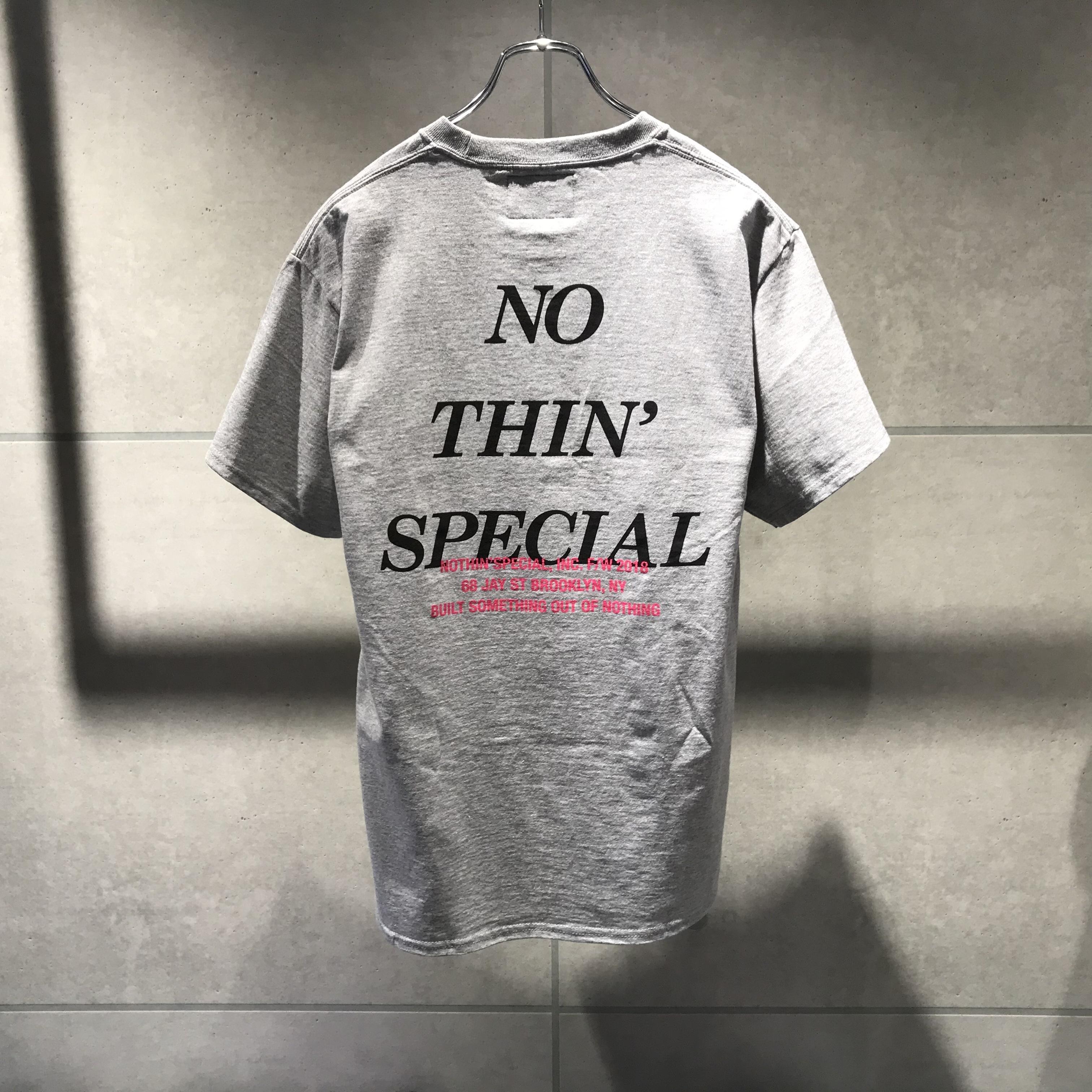 NOTHIN'SPECIAL FW 2018 LOGO TEE / HEATHER GRAY x BLACK