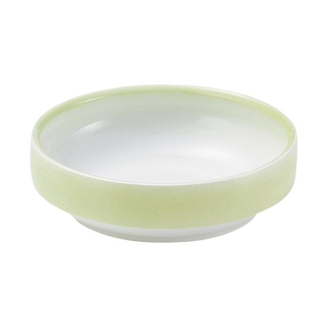 強化磁器 14.5cm すくいやすい食器 ぼかし若草 【1714-2780】