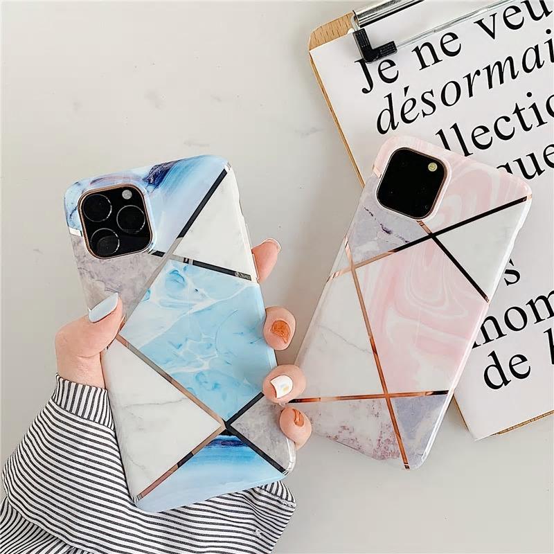 【お取り寄せ商品、送料無料】2カラー マーブル 大理石調 ソフト iPhoneケース iPhone11