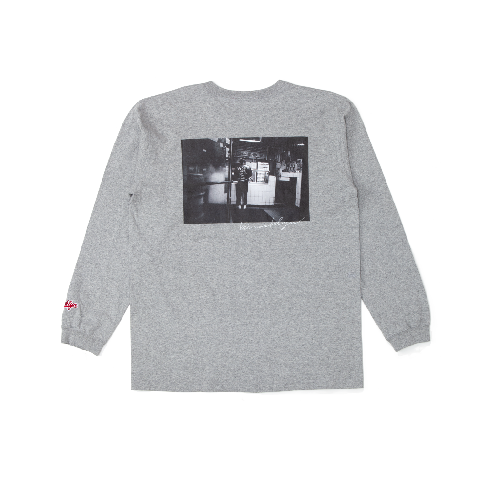 K'rooklyn Long T-Shirt × Koki Sato - Gray