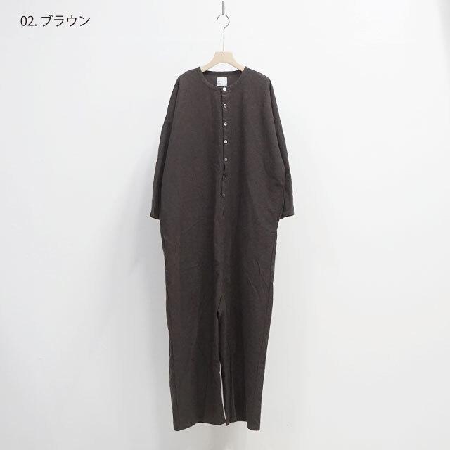 kiino. キイノ 平織シャンブレー起毛オールインワン (品番k-014)