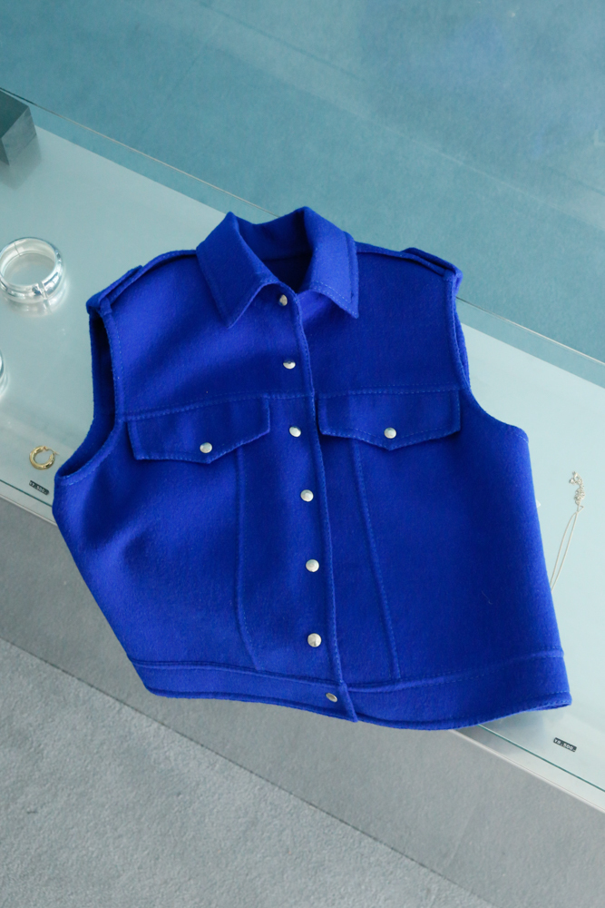 90's Blue Cashmere Vest