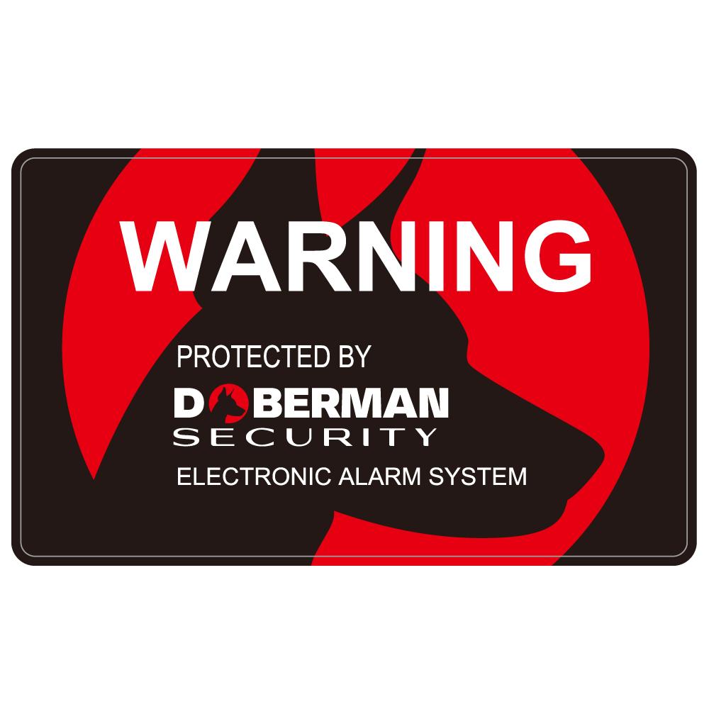 "173 PROTECTED by DOBERMAN ""California Market Center"" アメリカンステッカー スーツケース シール"