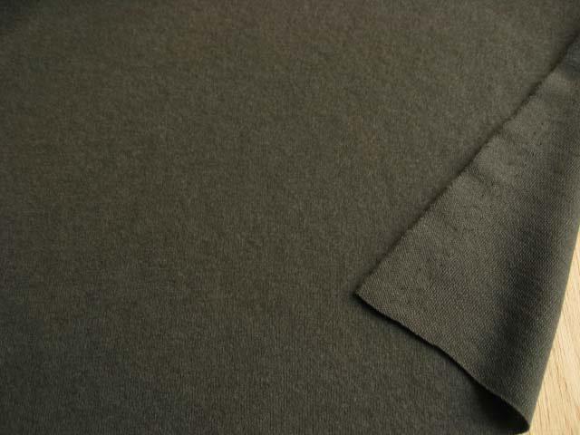 ウール混起毛スムースニット ディープグリーン NTM-2408