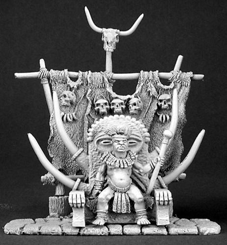 玉座に座る人食い部族の大王 - 画像2