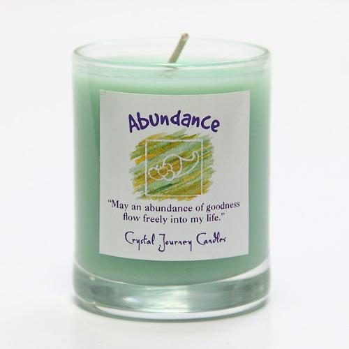 繁栄と豊かさを呼び寄せる|魔法のヒーリングキャンドル プチグラス (アバンダンス・ 豊かさを手に入れる)【Crystal Journey Candles 】