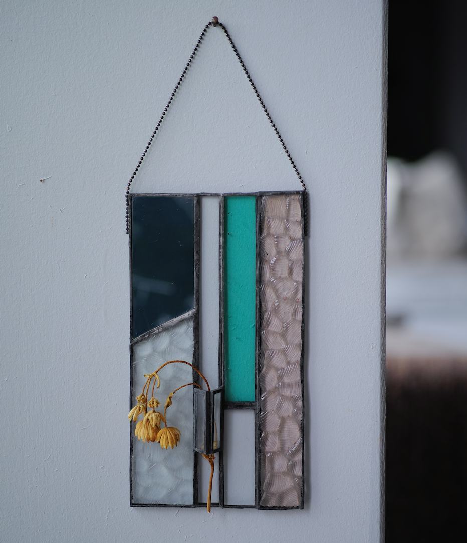 green / アストランティア【patchwork mirror 花器融合型】