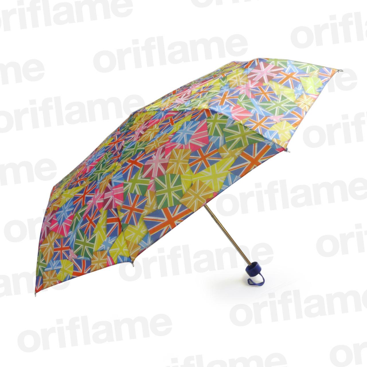 傘・折りたたみ・ユニオンジャック・マルチカラー・プラスチックグリップ
