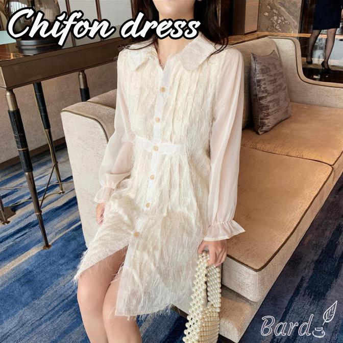 シフォン ワンピース レディース 爽やか 夏に着るのが楽しみ 体型カバー スカート 可愛い ゆったり