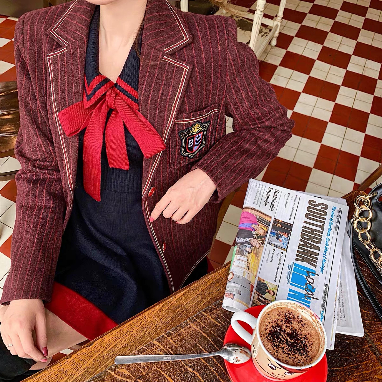 uniform ribbon dress