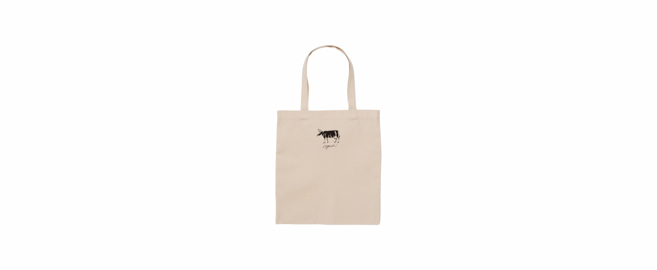 coguchi cow tote bag (NATU)