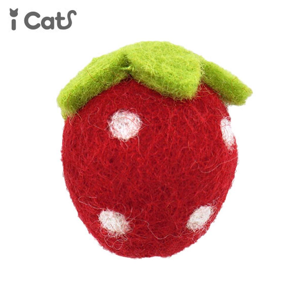 猫トイ(コロコロフィルトトイ)いちご