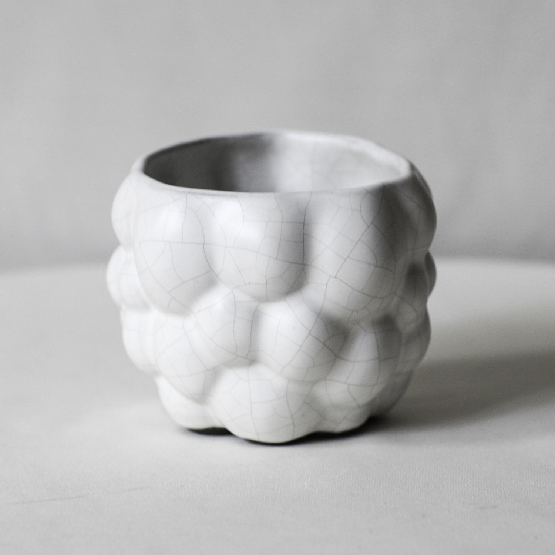Cubic Cloudy Pot(white penetration ver.)