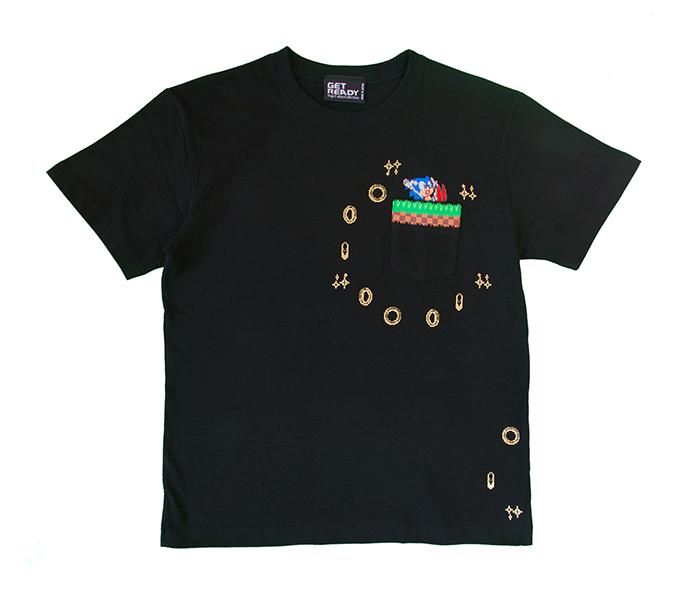 ソニック・ザ・ヘッジホッグ /1POINTソニックポケットT BLACK