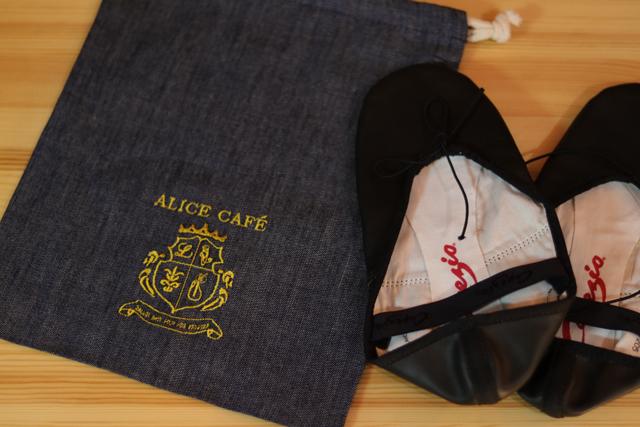 オリジナル刺繍デニムシューズバッグ