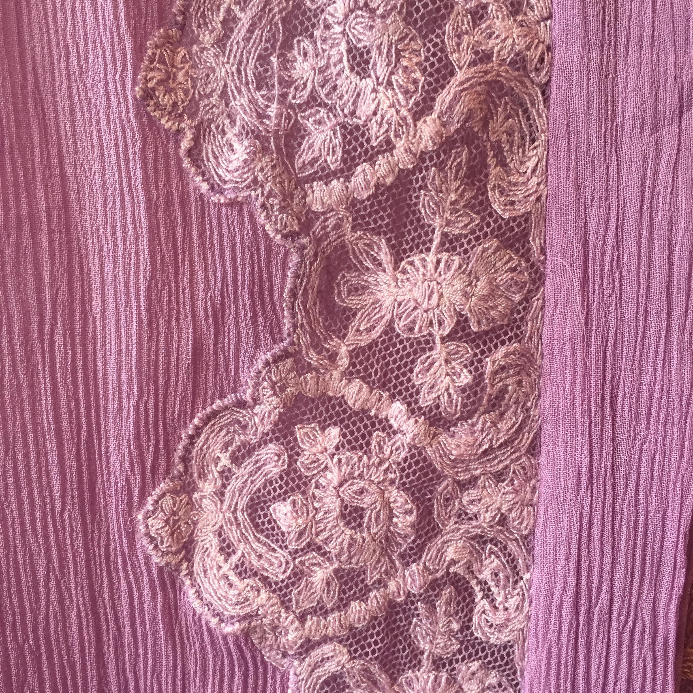 vintage lace silk tops