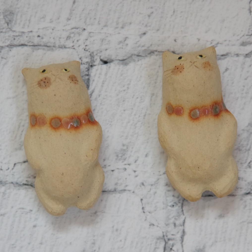 やちむん【小澤早苗】猫の箸置き